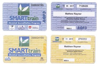Chemical Accreditation Cards